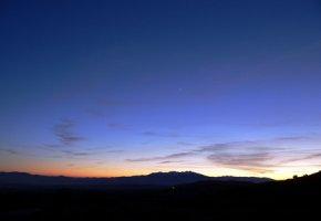 Eine Sternschnuppe beim Eintritt in die Atmosphäre