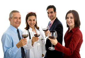 Eine Weinverkostung mit Freunden