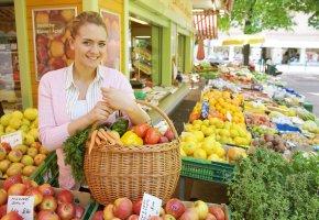 Einkauf beim Gemüsehändler