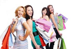 Einkaufsparty mit Freundinnen