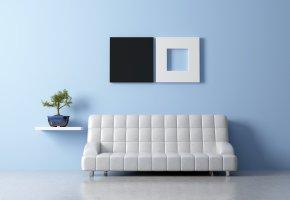 Moderne Feng Shui Einrichtung mit Sofa