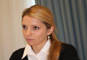Eugenia Timoschenko im Gespräch mit Frank M. Wagner in Berlin - die Tochter von Julia Timoschenko setzt sich für die Freilassung ihrer inhaftierten Mutter ein.