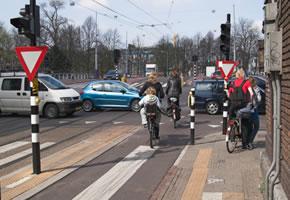 Radfahrer im Verkehr