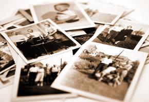 Familien Fotos: Erinnerungen an die Kindheit
