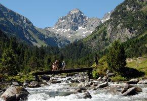 Familienurlaub in den Bergen