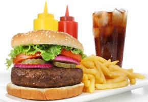 Fast Food ist fettiges Essen