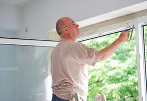 Fenster werden verputzt