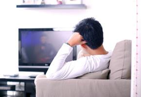 Fernsehen mit einem HD-Ready Flachbildschirm