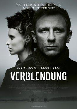 Filmplakat von Verblendung mit Daniel Craig und Rooney Mara