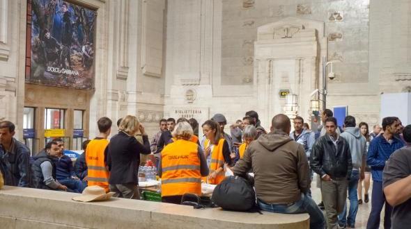 Flüchtlinge aus Syrien in Italien.