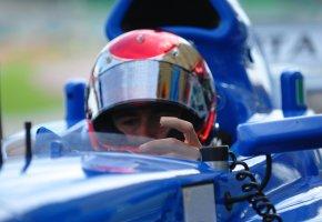 Formel 1 Fahrer beim Boxenstop