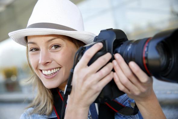Fotografin bei ihrer Arbeit.