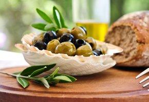 Frische Oliven zum Essen