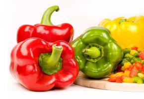 Frisches Gemüse - Paprika in verschiedenen Farben