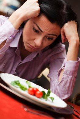 Frustriert - die Diät ist gescheitert