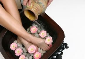 Fußbad zur Erholung der Füße