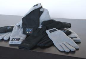 Stapel Mobilfunk-Handschuhe von hi-Call