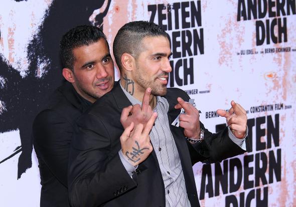 Bushido mit seinem Freund aus dem kriminellen Millieu - Arafat Abou Chaker.