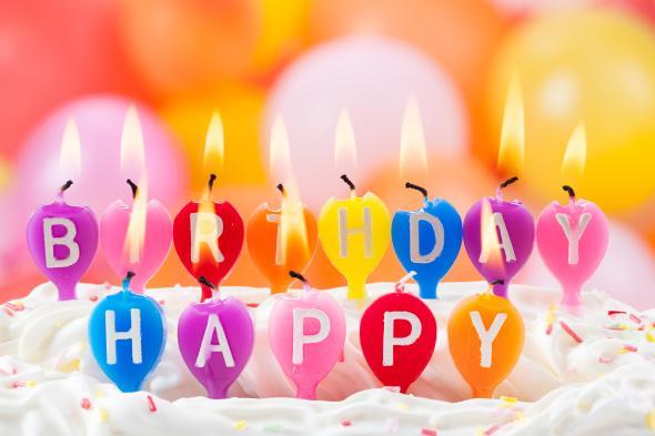 Happy Birthday - Alles Gute zum Geburtstag.