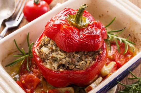 Leibgerichte - dieses Menü kommt immer wieder gerne auf den Tisch: Gefüllte Paprika