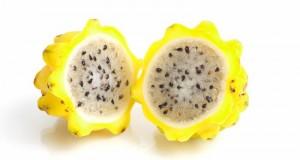 Exotische Frucht Gelbe Pitahaya