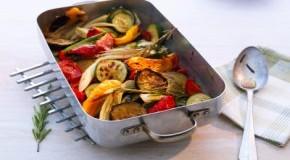 Gemüse Ratatouille - viel Eiweiß und wenig Fett