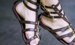 Gepflegte Füße in Sandalen