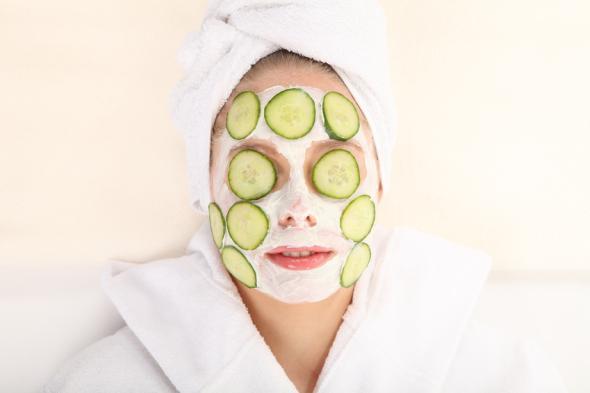 Gesichtsmaske für die Schönheitspflege.