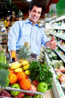 Gesunde Ernährung - Nahrungsmittel einkaufen