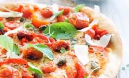 Gesunde Pizza mit Meeresalgen