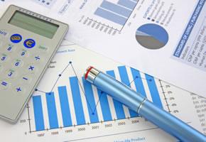 Gewinn und Verlust für einen Businessplan
