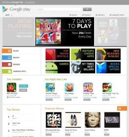 Google play Startseite