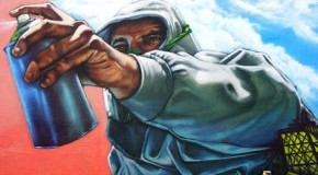 Bildnis von einem Graffiti-Sprayer-Künstler