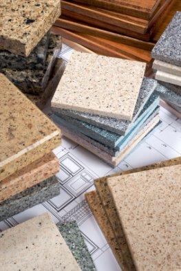 Granitküche - eine Auswahl von Granitplatten