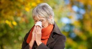 Mit der Grippe kommt auch der Schnupfen.