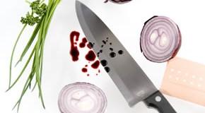 Haushaltsunfall: Mit dem Küchenmesser geschnitten