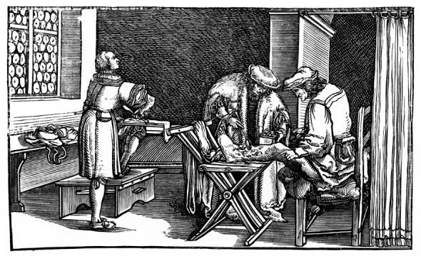 Heilmethoden -eine Wundbehandlung im Mittelalter.