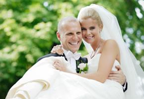 Heirat, dieses Pärchen feiert seine Hochzeit