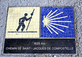 Hinweisschild vom Jakobsweg