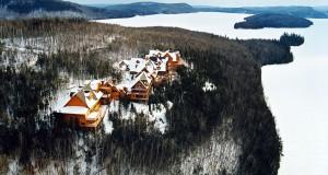 Die Hotelanlage Sacacomie aus der Vogelperspektive