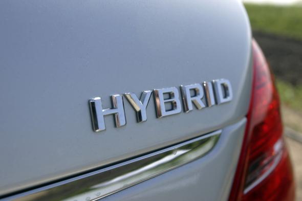 Hybrid - Auto mit einem Hybridantrieb.