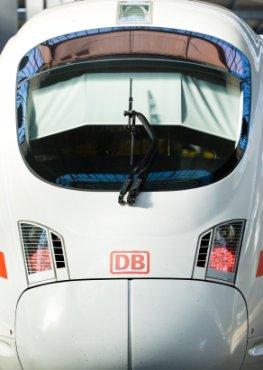 Ausgefallener ICE der deutschen Bahn