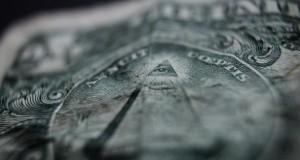Illuminaten - die 1 Dollar Note mit Pyramide und Auge.