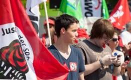 Demonstration in Wiesbaden: Immer weniger Jugendliche engagieren sich politisch