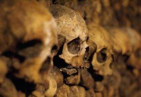 Tausende Totenköpfe in den Katakomben von Paris