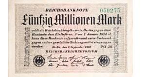 Inflation: Fünfzig Millionen Reichsmark