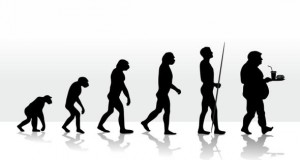 Die Evolution der Menschheit von der Intelligenz zur Dummheit.