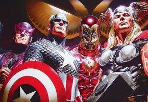 Iron Man und seine Avengers Kollegen