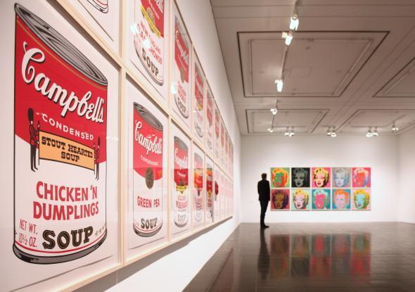 Campbell`s Soup Cans - Ausstellung von Warhol Kunstwerken in Galerie der Gegenwart (Hamburg).