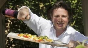 Jamie Oliver beim Pizzabacken